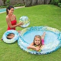 Pool & Accessories PVC Baby Inflatable Star Fish Swimming Ball Drain Hole Kids Swim Children Bathtub Portable