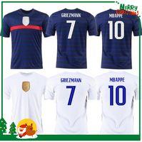 Euro 2020 كأس Mbappe Grizmann فرنسا Soccer Jersey Pogba Giroud Kante Mailleot De Foot Equipe Mailleots Football Shirt Oechs LA 2021 100th 100 سنة الرجال + Kids Kit