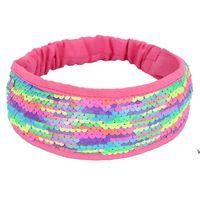 Glitter Headband Reversible Lantejoulas Flip Descolorido Escala de Peixe Mulheres Hairband Hair Hip Hip Hop Hop Cabelo Acessórios Favor Favor Presente Hwe6981