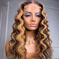 Loose Deep Wave 13x6Lace Front Human Hair Wigs Highlight Lace Frontal Wig For Women Brazilian Closure Wigss Pre Plucked full LaceWigs