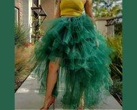 Skirts Chic Women Halloween Tulle Fluffy Hi Low Shape Plus Size Maxi Tutu Skirt Ruffled Party Prom Birthday