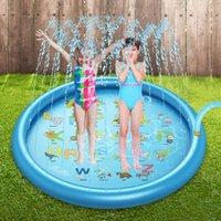 بركة الاكسسوارات الاطفال تلعب ألعاب المياه 170 سنتيمتر السباحة الصيف في الهواء الطلق البخاخ pvc نفخ حصيرة للأطفال ألعاب الشاطئ
