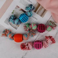 Dog Toys & Chews Pet Rope Chew Bone Ball Animal Shape Pets Playing Knot Toy Cotton Teeth Cleaning For Small Puppy