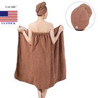 Bain Body Wrap Set Femmes Soft Spa Serviette Peignoir de peignoir à cheveux secs H0040 US STOCK Livraison rapide