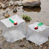 접이식 물 가방 야외 캠핑 하이킹 요리 컨테이너 액체 리프팅 캐리어 비상 마시는 탱크 자동차 자전거 가방