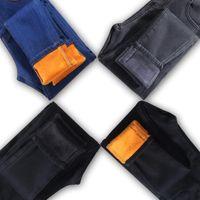 Women's Jeans Winter Add Plush Women Casual Thicken High Waist Large Size Denim Pants Velvet Skinny Pencil Black Stretch