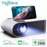 THUNDEAL TD60 Mini Proyector portátil WIFI Android 6.0 para 1080p Video Proyector 2800 Lúmenes Teléfono Smart 3D Beamer Home Cinema