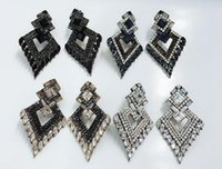 YaYi Jewelry Multi Glass Rhinestone Dangle Crystal Earring Women's Fashion Ancient Silver Color Gem Brand Earrings Gift & Chandelier