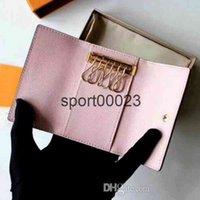 최고 품질의 여러 가지 빛깔의 가죽 짧은 지갑을위한 도매 지갑 6 홀더 여성 남성 클래식 지퍼 포켓 키