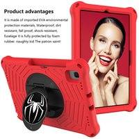 Kids EVA foam shockproof handheld tablet case For Samsung Tab A7 10.4 T500 T505 shoulder strap finger holder kickstand covers