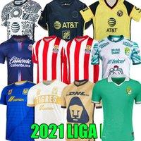 21 22 Chivas 축구 유저 기념 클럽 아메리카 Giovani 2021 Tigres Uanl Liga MX Guadalajara 여성 축구 셔츠 A.VEGA Macias Long Sleeve Leon Uniform