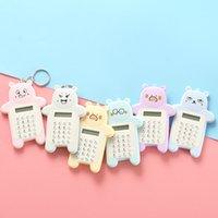 Koreanische kreative Keychain Cartoon Nette Bär Mode tragbare Taschenmini-Student-Taschen-Taschenrechner
