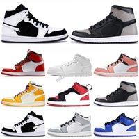 Jumpman 1 1 retro Дети 12 обувь дети баскетбол обувь мальчик девочка 1S OVO французский синий мастер такси плей-офф спортивная обувь малышей подарок на День Рождения