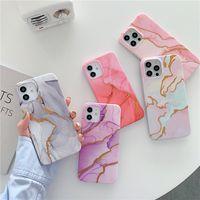 Custodie per cellule antiurto in TPU in marmo colorato TPU per iPhone 7 8 x XR XS 11 12 Pro Max Samsung S20 S21 Plus Nota 20 Ultra A52 A72