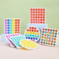 Poussoir Bubble Toy Decompression Coloré ABS Sensory jouets Rainbow Bubbles Bubbles Anxiété Soulagement Stress Strips Pour Enfants Enfants