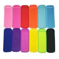 16 cores Antifreezing Popsicles Sacos Ferramentas Freezer Icy Pólo Picksicle Holders Reusável Neoprene Isolamento Saco de Mangas de Gelo