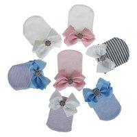 Nouveau-né Mignon Baby Baby Fille Comfy Bowknot Hospital Bonnet Bonnet Bonnet Striché Bébé Baby Caps Bonnet Bonnet Toddler Hats 865 Y2