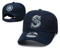 2021 أعلى جودة الرجال سياتل البيسبول الرياضة فريق القبعات غولف قناع رمادي اللون snapback تصميم مروحة الأمريكية الرياضية حجم واحد شقة