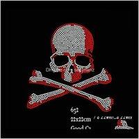 Nozioni di cucito Strumenti Abbigliamento Abbigliamento Consegna di goccia 2021 30 Pcslot Fix Rhinestone Iron sui trasferimenti Grandi motivi cranio cristalliti fai da te per maglietta GI0PJ