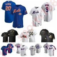 Mets 20 Pete Alonso 20 21 Baseball Jerseys 48 Jacob deGrom Darryl Strawberry Keith Hernandez Dwight Gooden 31 Piazza Jersey