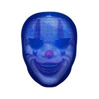 Christmas Halloween Party Custom Logo DIY Face-changing Programmable Masks LED Facial Face Mask