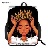 Sac à dos Koko Cat Beauty Princess Girls Imprimé Adolescents Sacs scolaires Femmes Voyage Rucksack Casual Daypack Daypack Mochila Escola