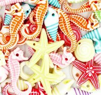 20G раковины рыбы Гиппокампус раковина морская звезда смешанные пластиковые бусины для DIY ювелирные изделия, делающие ожерелье браслет аксессуары 1640 v2