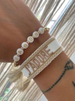 Women Men Adjustable Tassel Friendship Bracelets Embroidery Letter Bracelet Wholesale Jewelry