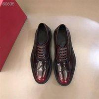 하이 엔드 망 부티크 옥스포드 신발 럭셔리 디자이너 계약 및 분위기 레이스 업 낮은 뒤꿈치 연회 드레스 가죽 신발 크기 38-45