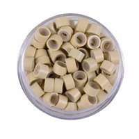 Hiars Braiders 1000 Pcs set 5.0mm*3.0mm*3.0mm Microring Con Vite Silicone Micro Rings Beads for Hair Extensions 7 Colors Optional 1047