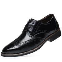 Chaussures de robe Whoholl Retro Bullock Design Hommes Business classique Classique Toe Pointe Toe Oxford Big Taille 38-48