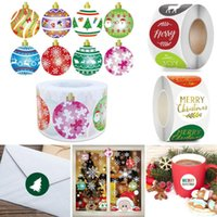Gift Wrap Package Party Supplies Santa Claus Wedding Decor Merry Christmas Sealing Stickers Candy Bag Labels