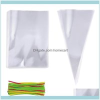 Gift Event Festive Party Supplies Home & Gardengift Wrap 200Pcs And Triangle Clear Cellophane Bags Opp Cookie Bakery Candy Biscuit Lollipop