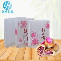Sacchetto di carta della torta del fiore, imballaggio del cibo a prova di olio con rivestimento generale Varie sacchetti di spuntino