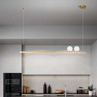 Pendant Lamps Modern And Simple LED Moon Chandelier Nordic Dining Black Bar Front Desk Light