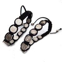 Bijoux catholiques religieuses Fournitures Saint-Père et mère de Dieu en alliage Woven Chinois Knot Bracelet