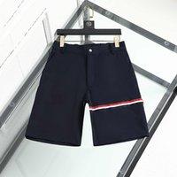 Pantalones cortos para hombre Diseñador de lujo Sport Summer Fashion Fashion Brand Tendencia Pure Algodón transpirable Ropa corta Lapel T01