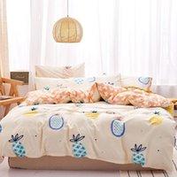 Bedding Sets 2021 100% Cotton Set Pineapple Duvet Cover 3or4pcs set Spring Summer Bed Linens Pastoral Bedclothes Gril