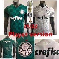 21 22 Version des joueurs Palmeiras L.Adri Jersey de football 2021 2022 Home Vert Borja Shirt N ° 7 Uniformes de football de l'homme de Dudu