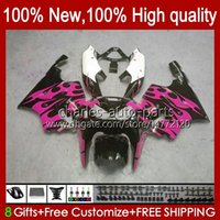 Organe OEM pour Kawasaki Ninja ZX7R ZX750 1997 1997 1998 1999 2002 2002 2002 2003 Flammes roses Nouvelle BodyWorks 28HC.95 ZX 7 R ZX 750 ZX-7R 96 97 98 99 00 01 02 03 Catériel