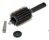 Home Hair Pinsel Black Stash Safe Ablenkung Geheimnis Sicherheit Haarbürste Hidden Wertsachen Hohl Container HWD7130