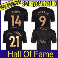 2021 2022 قاعة شهرة الانجليزية لكرة القدم الفانيلة 20 21 22 هنري شيرر الرجال عدة مؤطرة خاصة إطارات تذكارية رجل أسود رجل كرة القدم قميص الزي الرسمي