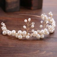 Hair Clips & Barrettes Handmade Crystal Beads Women Tiara Bridal Jewelry Pearl Stick Wedding Accessories Fashion MAEA99