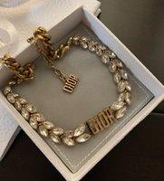 Mode Anfangsbuchstaben Choker Halskette heraus Anhänger Ketten für Lady Womens Party Hochzeit Liebhaber Geschenk Schmuck mit Box 041123