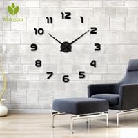 Wall Clocks 3D Frameless Clock Modern Mute Large Mirror Surface DIY Room Home Office Decorations Quartz Needle Watch