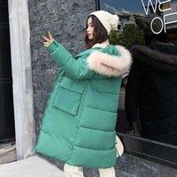 Faux fu Jackets Female Winter Coat Women's Parka Hooded Warm Coat Big pocket Jacket Cotton Padded Jacket Plus Size1