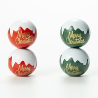 20mm Merry Christmas Letters Printed Round Ball Wood Beads DIY Charm Crafts Kids Toys Jewelry Bracelet Accessories