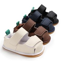 Ins Baby Sandals Cute Boys And Girls Summer Nonslip Toddler Shoes Cut-Outs PU Leather