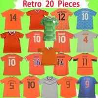 هولندا الرجعية لكرة القدم جيرسي 1974 1986 1988 1990 1991 1995 1997 1998 2000 2002 2010 2012 2014 دي يونج هولندا قميص كرة القدم Vintage GULLIT VAN BASTEN BERGKAMP