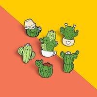 Pins, spille Bello distintivo pianta in vaso collare in vaso labbra smalto spilla in smalto coconut albero cactus foglie decorative abbigliamento cartone animato spille